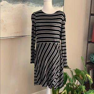 Kensie Black and Grey Knit Dress